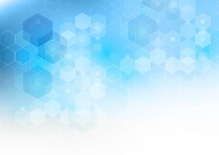 hintergrund: Vector Abstrakte Wissenschaft Hintergrund. Hexagon geometrischen Design. Illustration