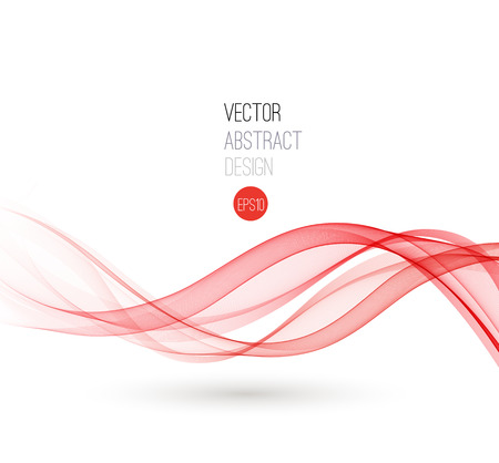 Beautiful red fractal. Waved Background. Vector Illustration Ilustração