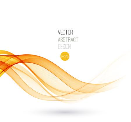 yellow orange: Beautiful Orange lines. Waved Background. Vector Illustration