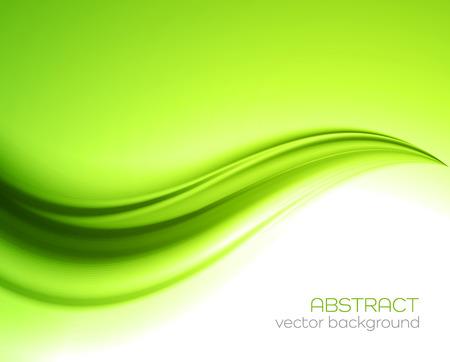 abstraktní: Krásná zeleného saténu. Řasení pozadí, vektorové ilustrace Ilustrace