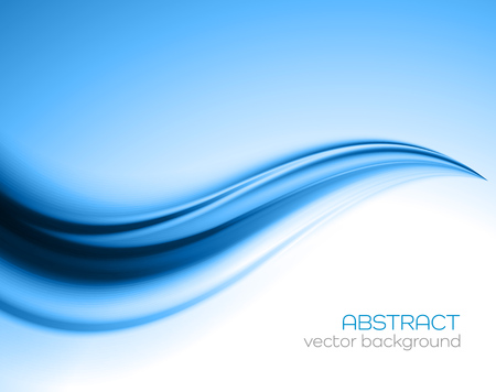wave: Beautiful Blue Satin. Drapery Background, Vector Illustration