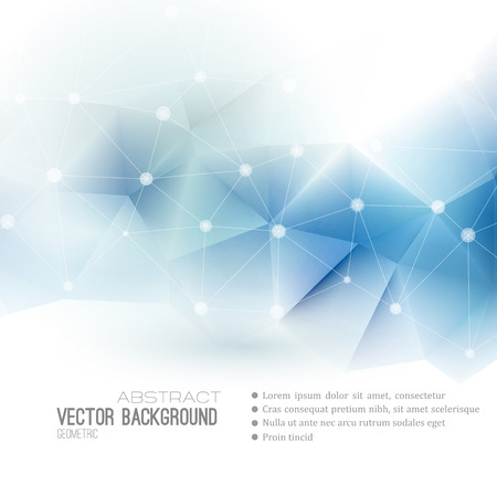 blue background: Vector Abstract science Background. Polygonal geometric design. EPS 10