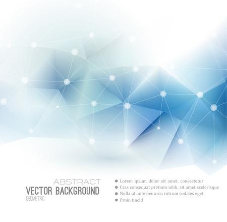 technológia: Vektor absztrakt tudományos háttérrel rendelkeznek. Sokszögű geometriai forma. EPS 10