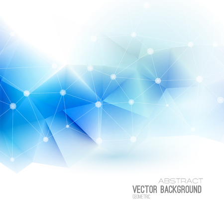 connection connections: Vector Abstract science Background. Polygonal geometric design. EPS 10