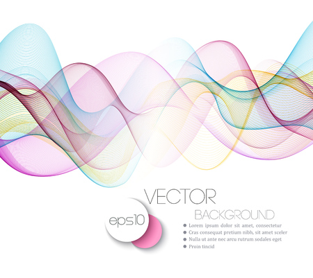 fractal pink: Abstract Beautiful waved lines Background.  Vector Illustration