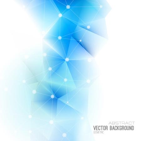 通信: ベクトル抽象科学背景。多角形の幾何学的なデザイン。EPS 10