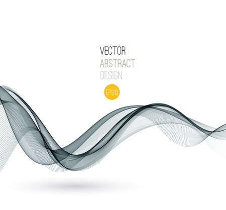 wave design: Vector Smoke. Abstract template Fractal background. EPS 10 Illustration