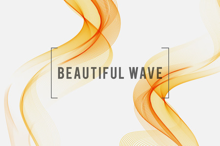 waved: Beautiful Orange Smoke. Waved Background, Vector Illustration Illustration