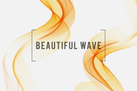 olfato: Hermosa humo de color naranja. Antecedentes ondulado, ilustración vectorial