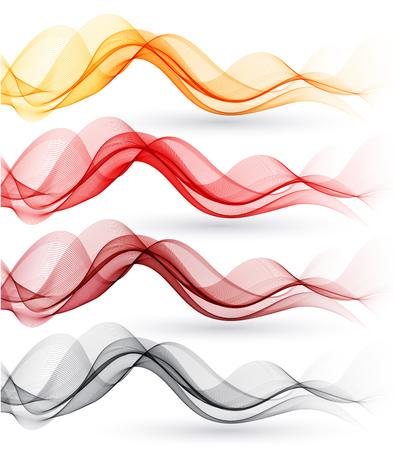 illustration abstract: Set of abstract color waves. Vector illustration EPS 10