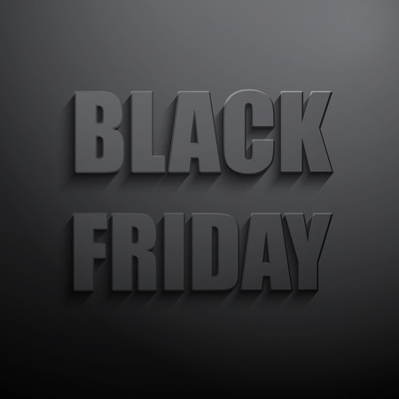 retail store: Vector Black friday sales typographic poster. 3d text