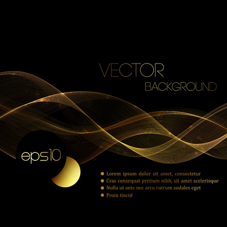 Abstract gold luxury wave layout background. Vector illustration  イラスト・ベクター素材