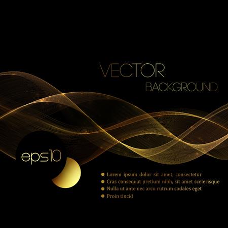 Abstract gold luxury wave layout background. Vector illustration Stock Illustratie