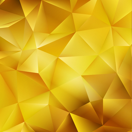 triangles: Abstract color mosaic background. Gold vector background Illustration