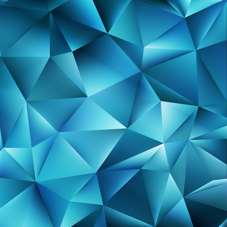 mosaic: Abstract color mosaic background. Blue vector background Illustration