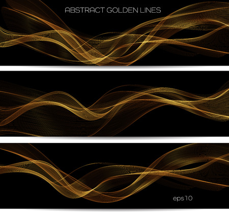 Abstract gold luxury wave layout background. Vector illustration Ilustrace