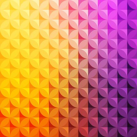 Uitstekende abstracte cirkel patroon met decoratieve geometrische en abstracte elementen. Vector kleurrijke achtergrond
