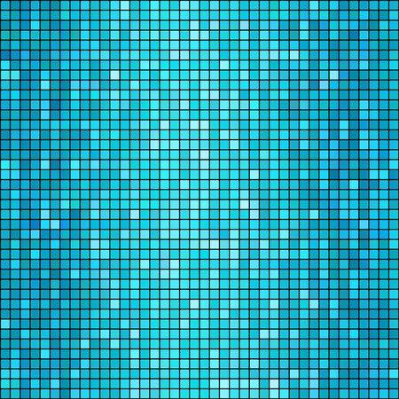 Vector illustration  blue mosaic background. Square shape Illustration