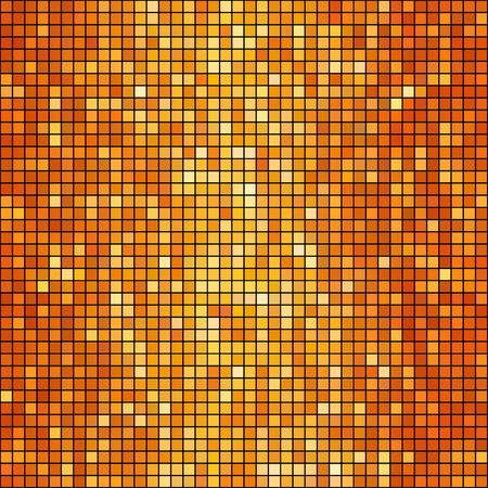 mosaic: Vector illustration  orange mosaic background. Square shape Illustration