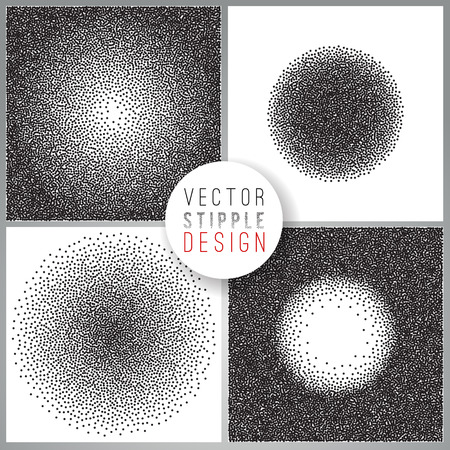 tone: Vector set of black and white halftone background. stipple effect