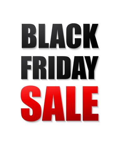 typographic: Black friday sales typographic poster. 3d text