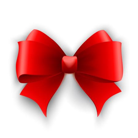 tie: Vector red bow. Tied Ribbon. Vector illustration