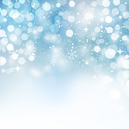 copo de nieve: Ilustración del vector. Resumen de los copos de nieve de Navidad de fondo. Color azul Vectores