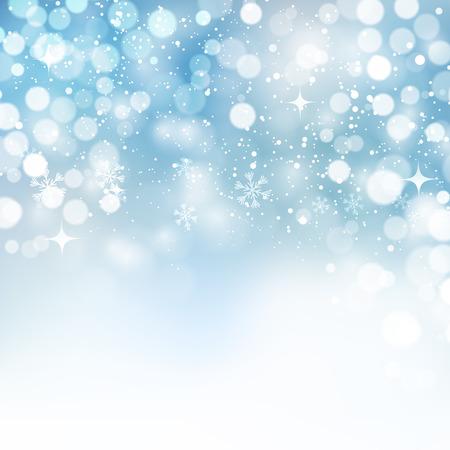 Vector illustratie. Abstracte Kerst sneeuwvlokken achtergrond. Blauwe kleur Stock Illustratie