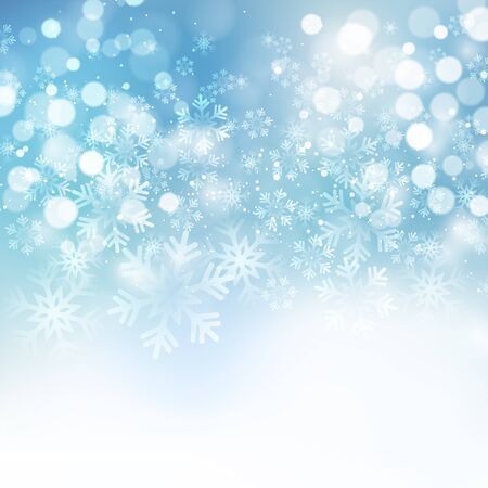 christmas blue: Vector illustration. Abstract Christmas snowflakes background. Blue color