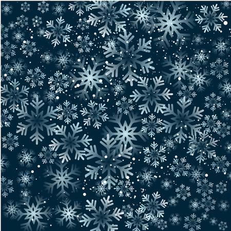 ベクトルの図。クリスマスの雪の抽象的な背景。青い色