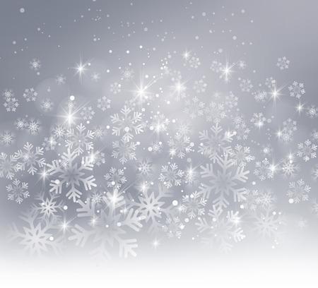 Vector illustratie. Abstracte Kerst sneeuwvlokken achtergrond. grijze kleur