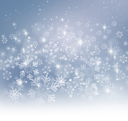 Vector illustration. Abstract Christmas snowflakes background. Gray color Ilustração