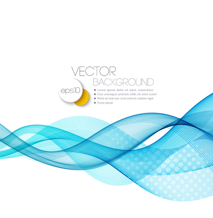 Vector Abstract  Blue curved lines background. Template brochure design.