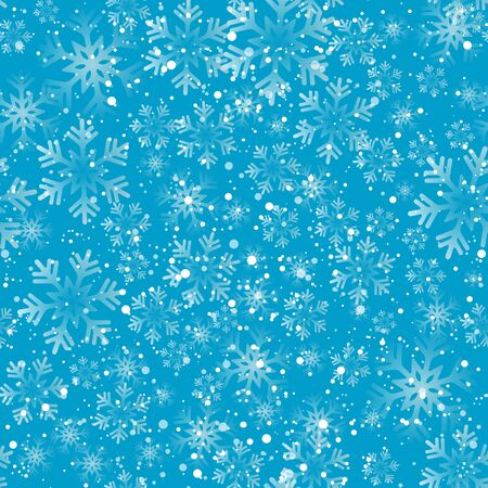 seamless tile: Vector illustration. Abstract Christmas snowflakes background. Seamless pattern