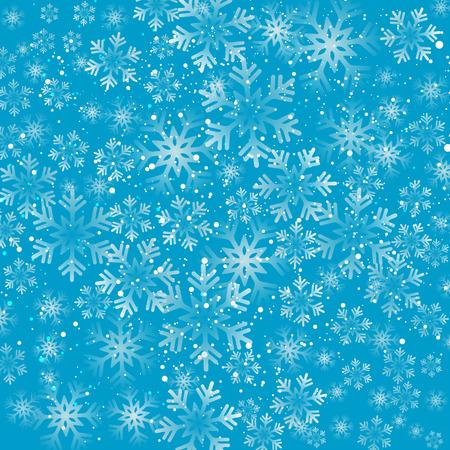 schneeflocke: Vektor-Illustration. Abstract Weihnachten Hintergrund mit Schneeflocken. Blaue Farbe Illustration