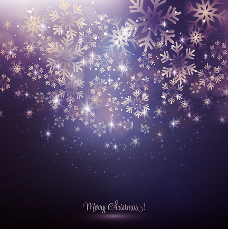 Vector illustration. Abstract Christmas snowflakes background. EPS10 Ilustração