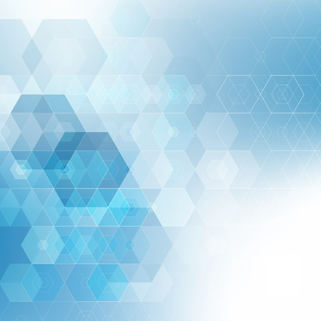 blue design: Vector Abstract science Background. Hexagon geometric design. Illustration