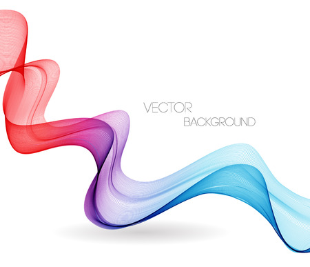 design vector: Vector Abstract spectrum curved lines background. Template brochure design. Smoke wave