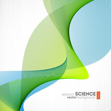 抽象的なベクトルの背景、未来の波形図 eps10