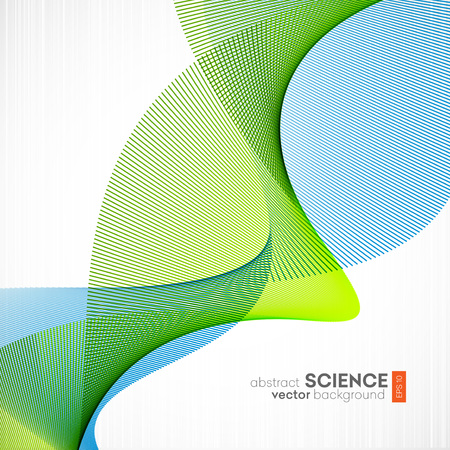 green lines: Abstract vector background, futuristic wavy illustration eps10