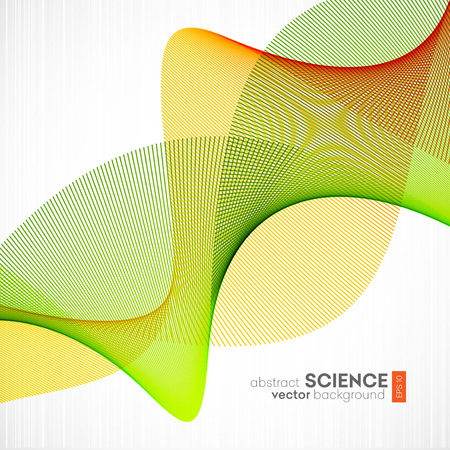 fractal background: Abstract vector background, futuristic wavy illustration eps10