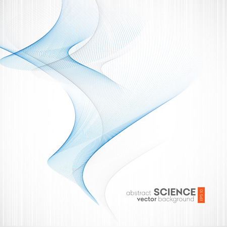 Abstract vector background, futuristic wavy illustration eps10