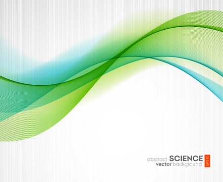 blue and green: Abstract vector background, futuristic wavy illustration eps10