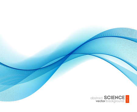 blue lines: Abstract vector background, futuristic wavy illustration eps10