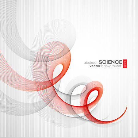red line: Abstract vector background, futuristic wavy illustration eps10