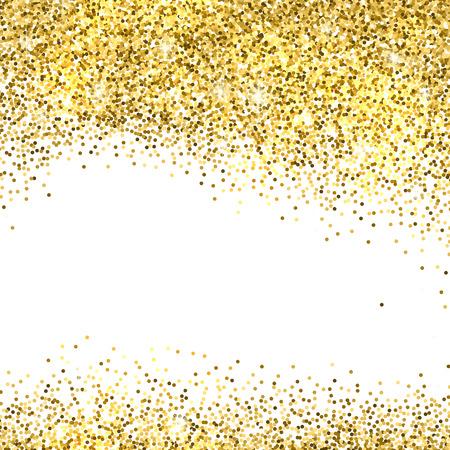 blink: Gold sparkles on white background. Gold glitter background. Illustration