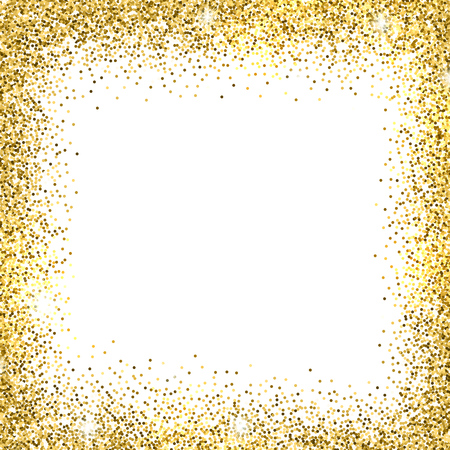 Gold sparkles on white background. Gold glitter background. Stock fotó - 50380531