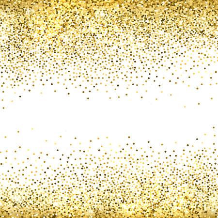 L'oro brilla su sfondo bianco. glitter background oro.