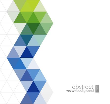 Vektor Abstrakte geometrische Hintergrund mit Dreiecken - Für Unternehmen, Corporate Design, Cover, Booklet, Broschüre. Standard-Bild - 50379789