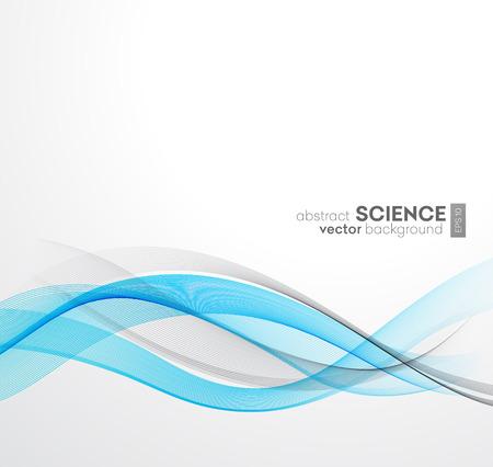 blue design: Abstract vector background, blue waved lines for brochure, website, flyer design.  illustration